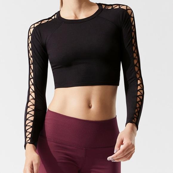 30d7e0ca4e ALO Yoga Tops | Aloyoga High Line Long Sleeve Top Black | Poshmark